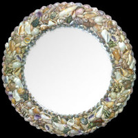 "Shell Mirror 15"" Diameter • Round"