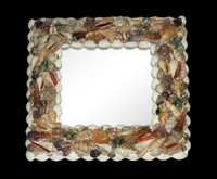"Shell Mirror 13"" x 13"" • Square"