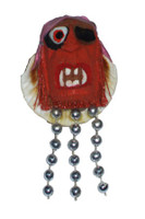 Pirate Head with Silver Beads Magnet