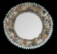 "Shell Mirror 8.5"" Diameter • Round"