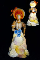 Natural Shell Doll with Blue Cloth
