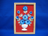 Blue White Cacay Flower Frame