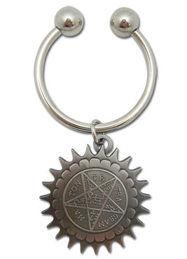 Black Butler: Metal Pentagram Key Chain