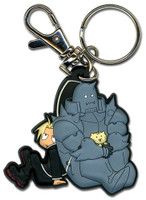 Fullmetal Alchemist Brotherhood: Ed and Al Holding Kitty Key Chain