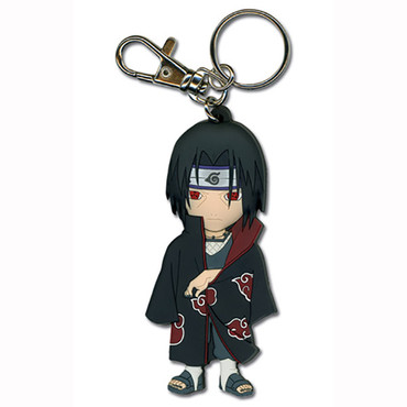 Naruto: Chibi SD Itachi Akatsuki Coat PVC Key Chain