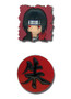 Naruto Shippuden: Itachi and Suzuka Symbol Anime Pins Set of 2