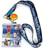 Dragon Ball Z: Saiyans Lanyard with ID Holder and Charm
