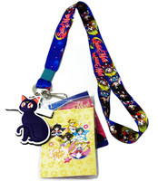 Sailor Moon Chibi Sailor Guardians Lanyard with ID Holder & Luna Charm