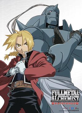 Fullmetal Alchemist Brotherhood: Ed and Al Anime Wall Scroll