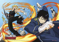Fullmetal Alchemist: Ed Vs Roy Anime Wall Scroll