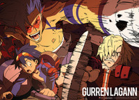 Gurren Lagann: Simon & Kamina vs Viral Anime Wall Scroll