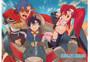 Gurren Lagann: Trio in Lagann Mecha Anime Wall Scroll
