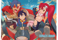 Gurren Lagann: Trio in Lagann Mecha Anime Wall Scroll