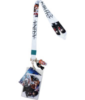Sword Art Online Kirito & Asuna White Lanyard ID Badge Holder & Charms