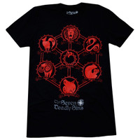 The Seven Deadly Sins: Sin Icons Men's Black T-Shirt