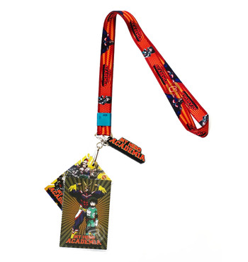 My Hero Academia Deku Lanyard with ID Badge Holder & PVC Logo Charm