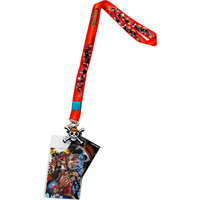One Piece: Straw Hat Pirates Crew Lanyard with ID Badge Holder & Charm