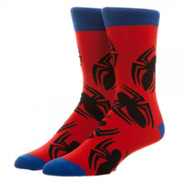 Marvel Spider-Man Large All over Print Crew Socks