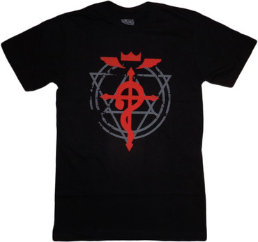 Fullmetal Alchemist Brotherhood: Flamel Cross Men's Black T-Shirt