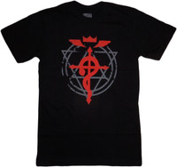 Fullmetal Alchemist Brotherhood: Flamel Cross Men's Black T-Shirt