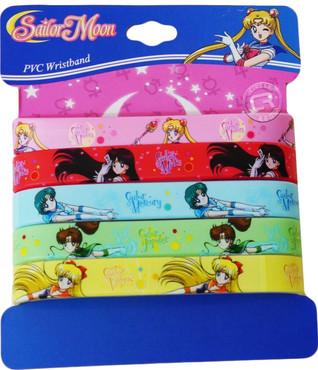 Sailor Moon R: Inner Senshi PVC Wristband Set of 5