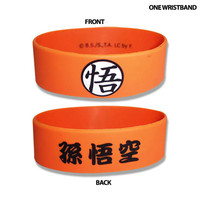 Dragon Ball Z: Goku's Symbol Orange PVC Wristband