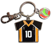 Haikyu!! Karasuno High Shoyo Hinata #10 Team Uniform Metal Key Chain
