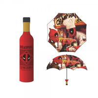 Marvel Deadpool Chimichanga Bottle Compact Umbrella