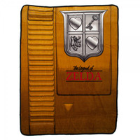 Nintendo The Legend of Zelda Gold Cartridge Throw Blanket