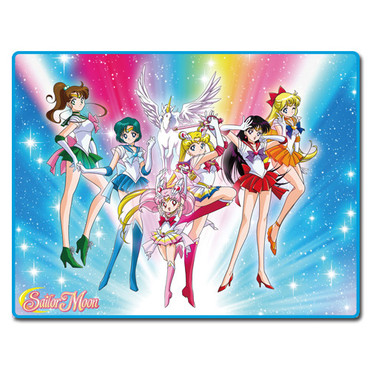 Sailor Moon Super S: Sailor Guardians Group in the Sky Throw Blanket