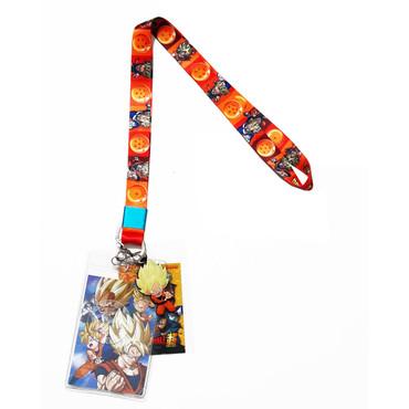 Dragon Ball Super: Super Saiyans & Dragon Balls Lanyard with ID Holder & Charm