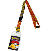 Pokemon Pikachu Attack Exclusive Lanyard with ID Badge Holder & Charm