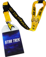 Star Trek Yellow Member Lanyard with ID Badge Holder and Charm
