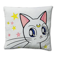 Sailor Moon Supers: Artemis Cat Throw Pillow