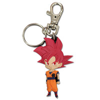 Dragon Ball Super: SD SSGSS Super Saiyan Red Goku PVC Keychain