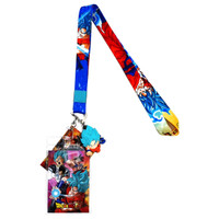 Dragon Ball Super: SSGSS Blue Goku Lanyard with ID Badge Holder & Charm