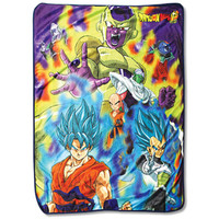 Dragon Ball Super Resurrection F Sublimation Throw Blanket