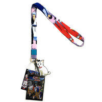 Gintama: Gintoki, Kagura, & Shinpachi Lanyard with ID Holder & Charm