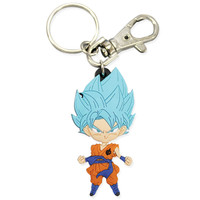 Dragon Ball Super SD Super Saiyan Blue Goku Standing Pose PVC Keychain