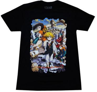 The Seven Deadly Sins: Meliodas Key Visual Men's Black T-Shirt