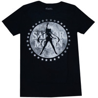 Sailor Moon Silhouette Moon Logo Men's Black T-Shirt