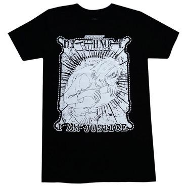 "Death note: L Lawliet ""I am Justice"" Men's Black T-Shirt"