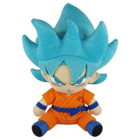 Dragon Ball Super: SSGSS Super Saiyan Blue Goku Sitting Pose Plush