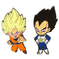 Dragon Ball Super: Super Saiyan Goku & Vegeta Pins Set of 2