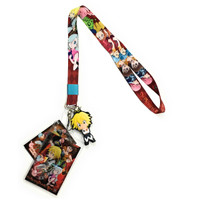 Seven Deadly Sins Meliodas Group Lanyard w/ ID Holder & PVC Charm