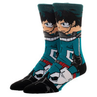 My Hero Academia: Izuku Midoriya Hero Suit Character Socks - One Pair