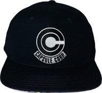 Dragon Ball Z: Capsule Corp Black Adjustable Cap