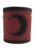 Tsubasa: Kurogane Crescent Moon Logo Leather Wristband