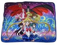 Sailor Moon R Sailor Guardians & Tuxedo Mask Sublimation Throw Blanket