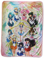 Sailor Moon S: Sailor Guardians Group Sublimation Throw Blanket